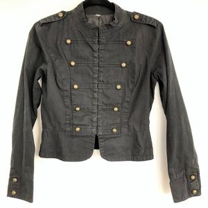 Jackets & Blazers - Black Military Jacket with Brass buttons size S
